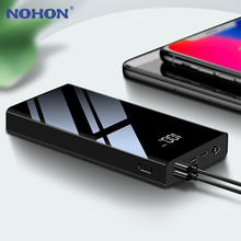 NOHON 30000mAh Power Bank Triple USB Ports LED Display For i