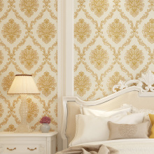 купить 3D Floral Wall Paper Roll European Style Luxury 3D Embossed Damascus Wallpaper Roll for Living Room Bedroom Walls Decoration по цене 2181.24 рублей