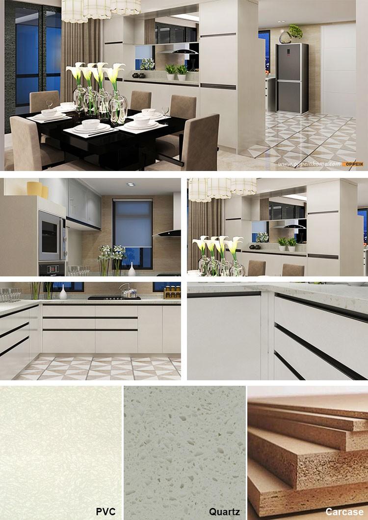 Aliexpress.com : Indien Projekt Frische Weiße PVC Moderne Küche ...