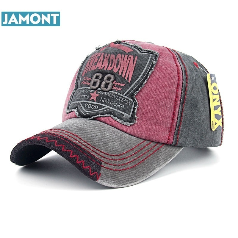 JAMONT New Arrive Breakdown 68 Embroidery Adjustable Baseball Cap Hip Hop Street Dance Snapbcak Flat Summer Sun Hat