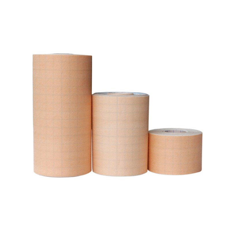 2 Roll Medical Fixation Non-woven Tape Yellow Skin Color Good Viscosity And Breathable Adhesive Plaster Wound Dressing