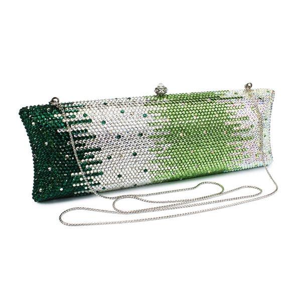 Stylish Multi Color Clutch Style clutch evening bag purse handbag rhinestone evening bags rhinestone pu leather evening clutch bag