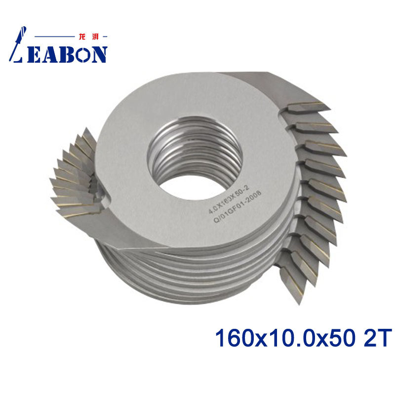 LEABON 160*10.0*50 2T Teeth Carbide Finger Joint Cutter For Woodworking Machine / Woodworking Tool