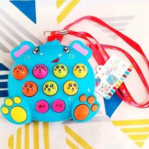 Image 3 - Juguetes musicales de plástico para niños y bebés, juguete para golpear a los hámster, juego de insectos, gusano de la fruta, Instrumentos educativos, Juguete musical