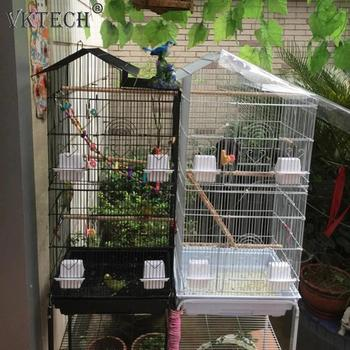 39/57 inch Metal Bird Cage Bird Parrot Cockatiel Birds Finch Cage with Wood Perches Food Cups Feeder Bird Supplies