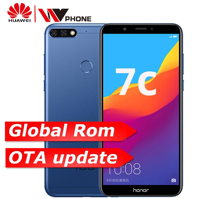 US $389 64 |Original Huawe Honor 7C 3GB 32GB Face ID 5 99 inch Snapdragon  450 Octa Core Front 8 0MP Dual Rear Camera 3000mAh-in Cellphones from