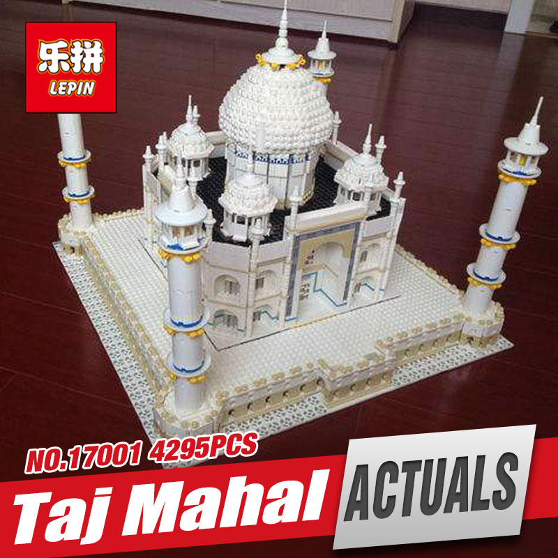 LEPIN 17001 5952pcs New The taj mahal Model Educational Building Kits Blocks Bricks Compatible Children Toys Gift With 10189 lepin 02012 city deepwater exploration vessel 60095 building blocks policeman toys children compatible with lego gift kid sets