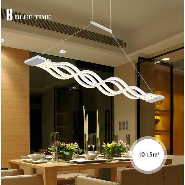 120cm 100cm White Led Pendant Light For Living Room Dining Kitchen Hanging Lamp Ceiling Mount