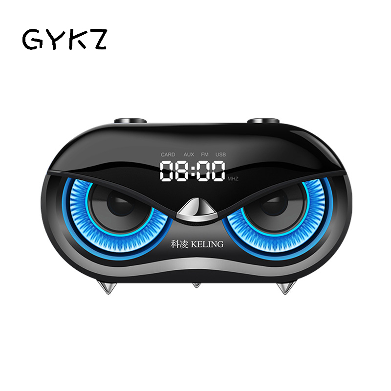 GYKZ Owl Bluetooth Speakers Subwoofer Wireless Desktop Computer Plug-in Card Bass Portable Loudspeaker Box For Home