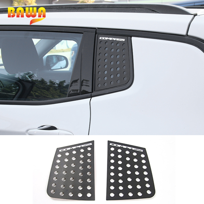 BAWA Car Stickers for Jeep Compass 2018 Accessories Creative Rear Triangle Glass Window Car Stickers and Decals For Campass 2018