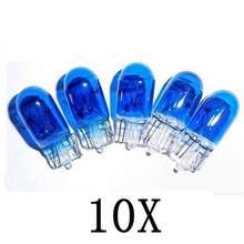 Lâmpadas de halogênio para carro, lâmpadas brancas super brilhantes de xenon para automóveis, 10 pçs/lote t10 12v 5w