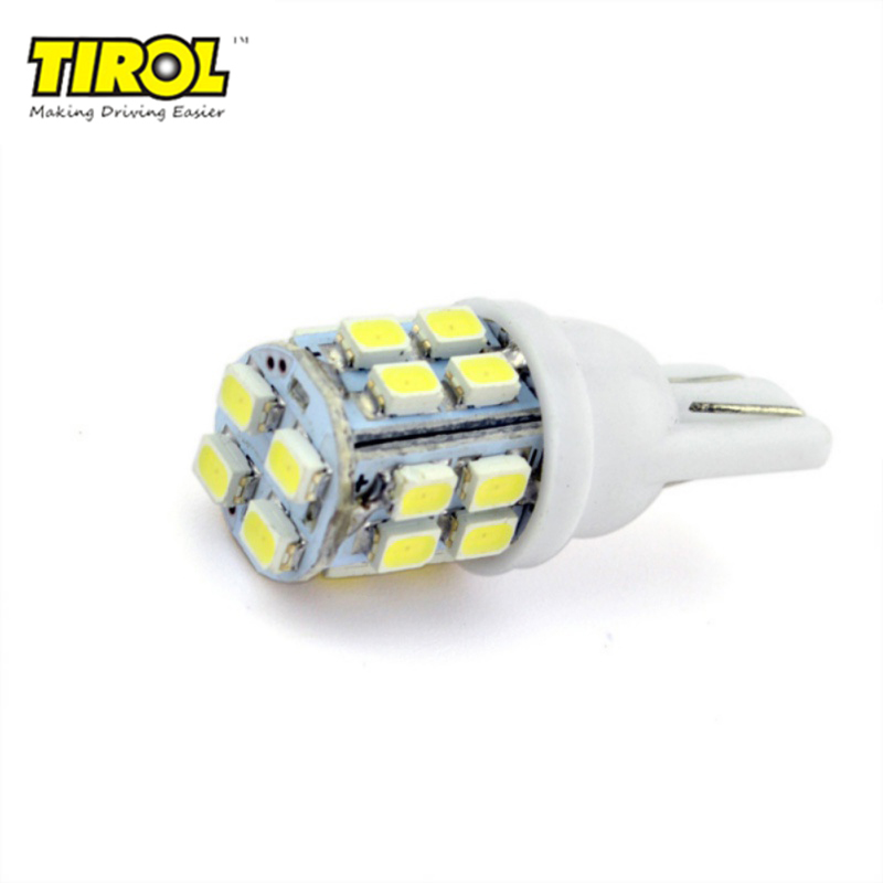 10PCS T10 20SMD 360 Degree LED Car Auto Lights Marker Lamps Lighting Universal DC 12V 2W