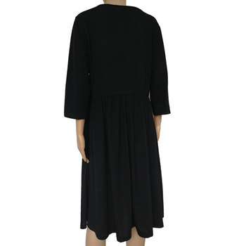 Big size 9XL dress for Fat MM 2019 Women Dress Loose pocket design solid plus size dresses women clothing party dress vestidos 5