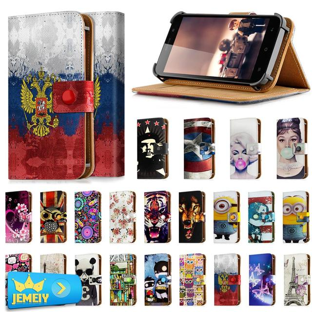 Hot Selling For INew L4/INew V8/Inew L1 Universal Adjustable Flip PU Wallet Leather Cover For Mpie S960/Umi emax Case Big Size