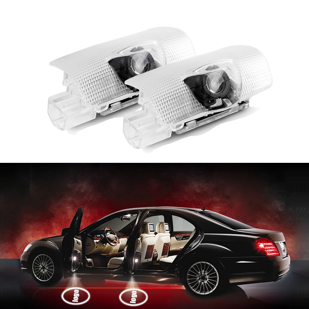 2PC LED Door Warning Light With FOR Toyota Logo Projector