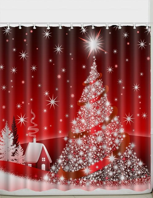Online Shop Custom 60/80 x 72 Inch Christmas Shower Curtain ...