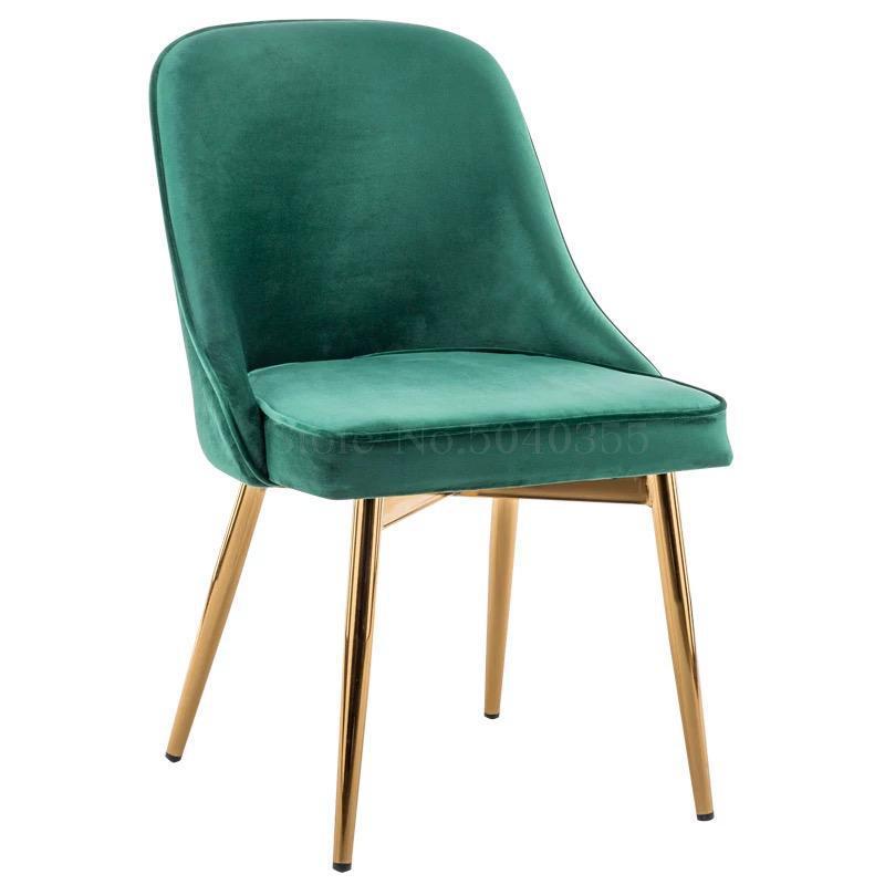 Скандинавский светильник роскошный стул для столовой сетка красный стул Макияж дизайн ногтей Металл домашний спальня стул Кофейня стул - Цвет: VIP 1