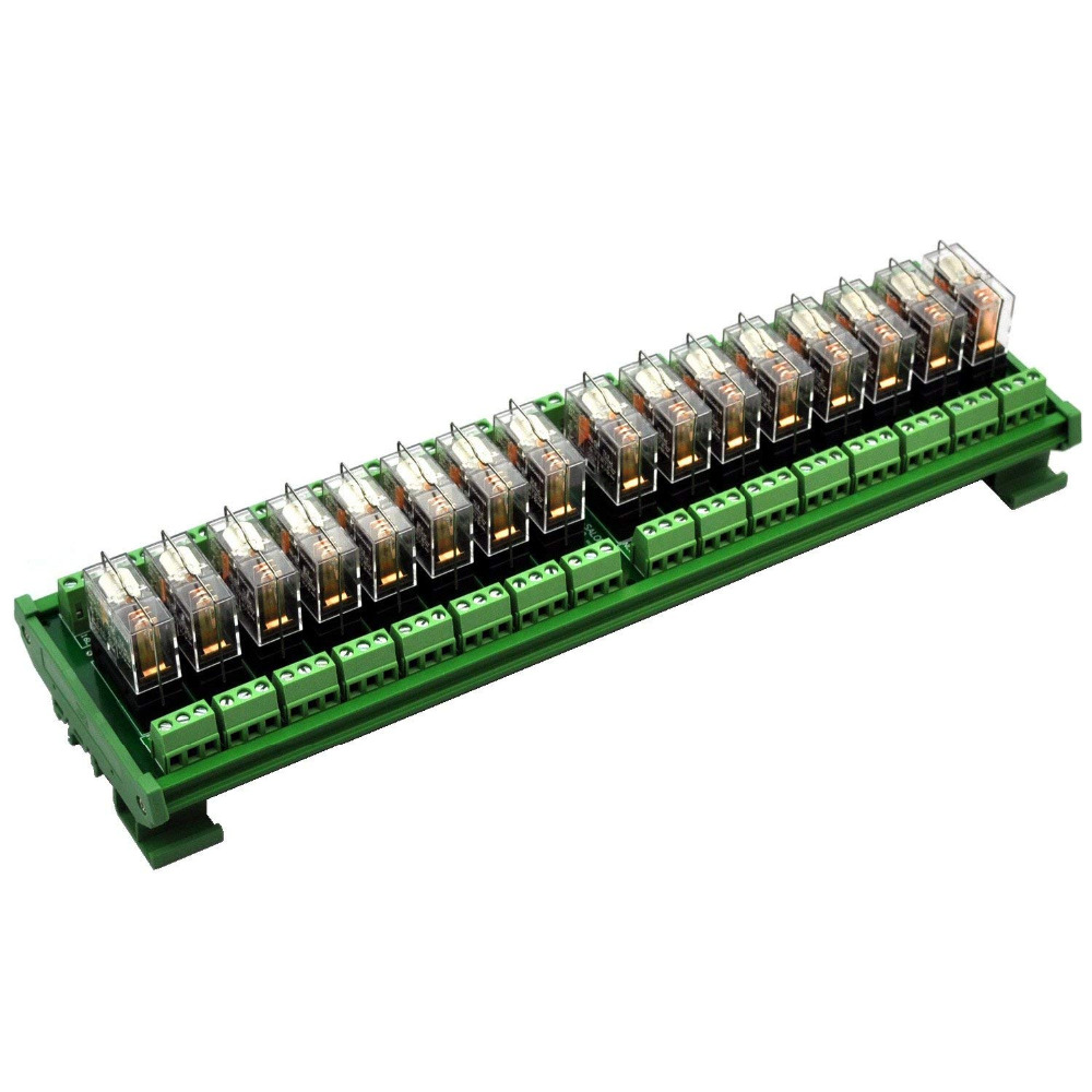 Электроника салон DIN рейка крепление AC/DC 12 V управление 16 SPDT 16Amp Подключаемый модуль реле питания, G2R 1 E