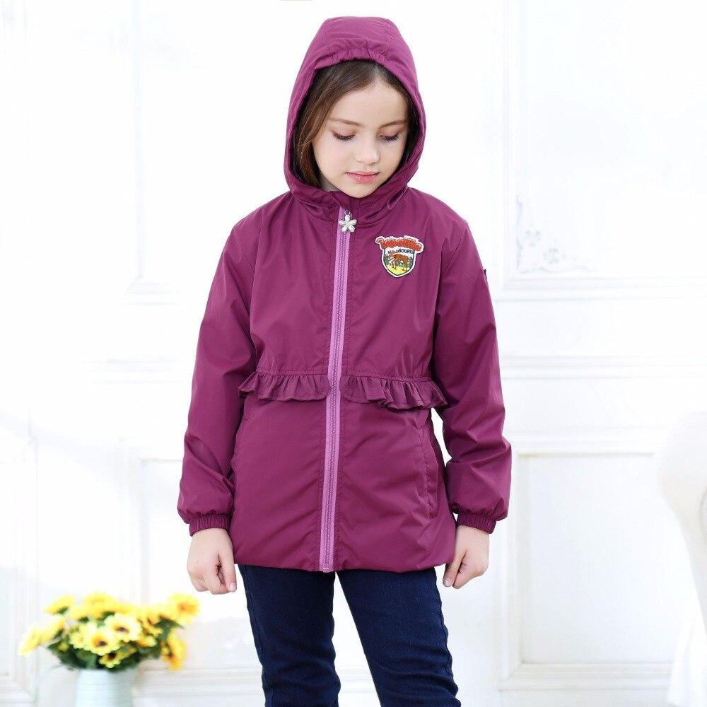 Warm Cotton Baby Girls Jackets Child Coat Waterproof Windproof Children Outerwear For 2-12 Years Old Winter Autumn