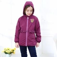 Теплые хлопковые куртки для маленьких девочек детское пальто водонепроницаемая ветрозащитная верхняя одежда для детей на От 2 до 12 лет и зиму осень