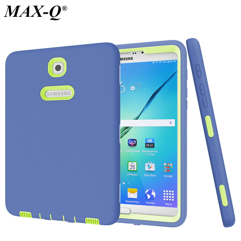 MAX-Q New Cover For Samsung Galaxy Tab S2 8.0 inch Case Rugged Heavy Duty Shockproof Silicone Hard Case For SM-T710 T715