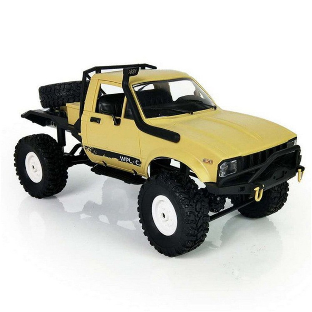 RC Vehicles Car Remote Control Military Car Rock Crawler Truck Charging Climb WPL C-14 Scale 2.4G 2CH 4WD 1:16 Brushed Off-road