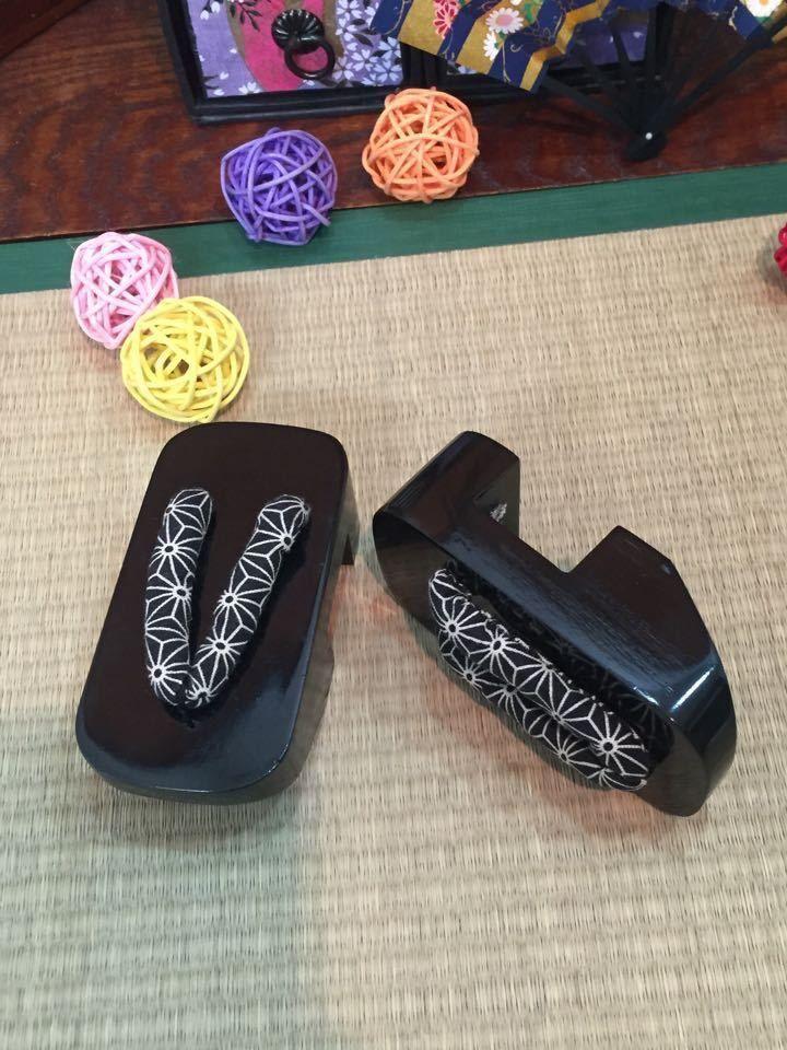 [wamami] Dark black Wood Kimono Timber geta Shoes Sandals 1/6 SD AOD LUTS BJD
