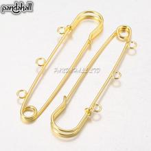Iron Kilt Pins for Jewelry Golden DIY Material in Garment Decoration Size about 75mm long hole