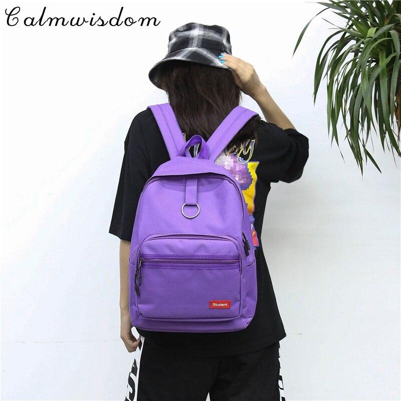 2018 Fashion Women Backpack Laptop Backpack Women Cool Travel Backpacks Schoolbag for Girls Beautiful Black Purple back pack
