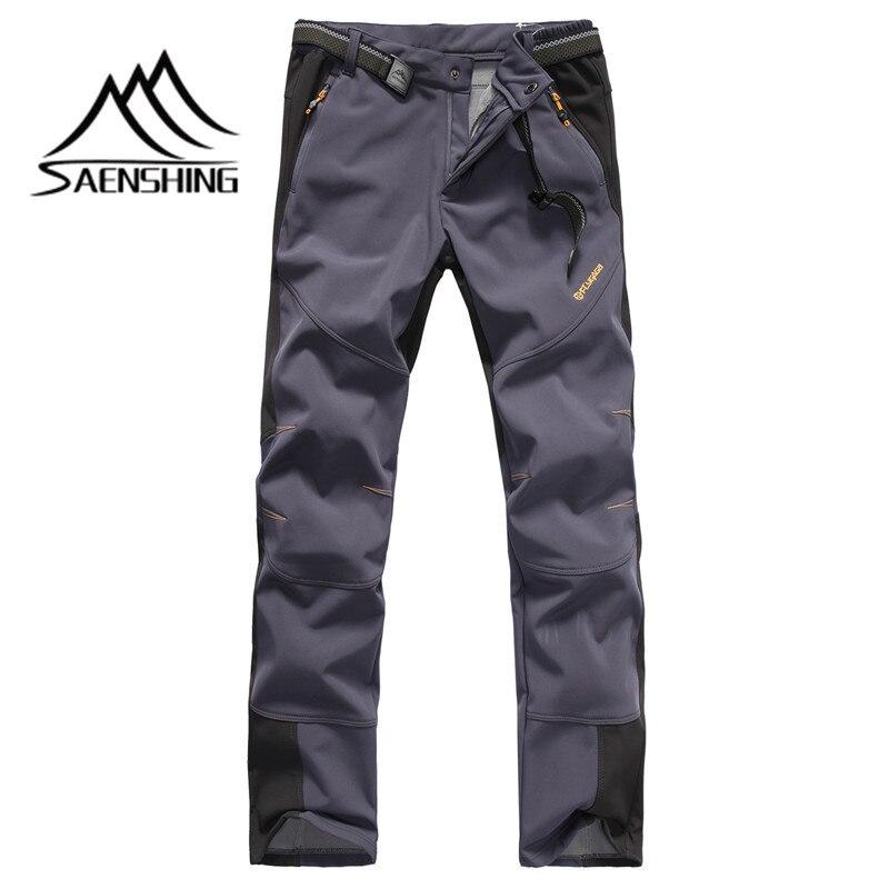 SAENSHING nouveau Softshell pantalon automne hiver hommes randonnée en plein air pantalon imperméable coupe-vent thermique pour pêche Camping randonnée