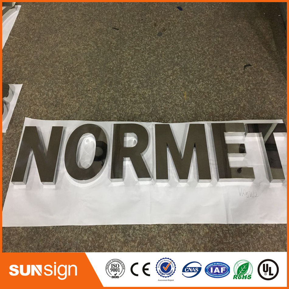 Painted Stainless Steel Channel Letter For Advertisement Or Shop
