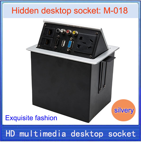 Desktop socket / new / hidden multimedia information box outlet / HD HDMI network RJ45 video Audio USB VGA desktop socket M-018 new l0211 multimedia desktop socket multifunctional desktop socket outlet three plug socket network meeting