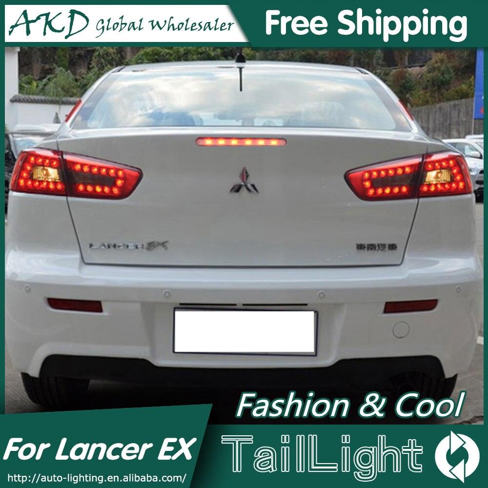 AKD Car Styling for Mitsubishi Lancer Tail Lights 2009-2014 Lancer EX LED Tail Light Rear Lamp DRL+Brake+Park+Signal