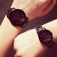 Модные Для мужчин Для женщин часы Элитный бренд полный Нержавеющаясталь кварцевые наручные часы пара влюбленных часы relogios часы 2017
