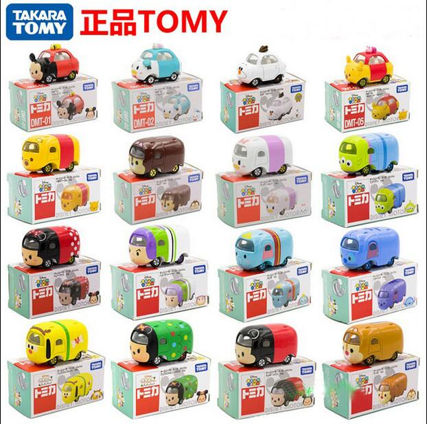 Tomy Tomica Motors Tsum Tsum Diecasts Cartoon Mickey Donald Elsa Anna Olaf Winnie Automobiles