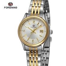 FSL8089Q4T1 Forsining марка последние женщины кварцевые часы из нержавеющей стали, браслет подарочная коробка бесплатная доставка высокое качество