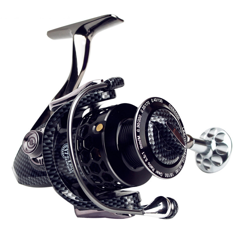 YUYU 2018 Full metal Fishing Reel 17+1BB series 3000 5000 7000 spinning reel for feeder fishing spinning reel pesca metal spool kastking kodiak 2016 hot sale 2000 5000 series aluminum spool superior ratio 5 2 1 spinning fishing reel spinning reel