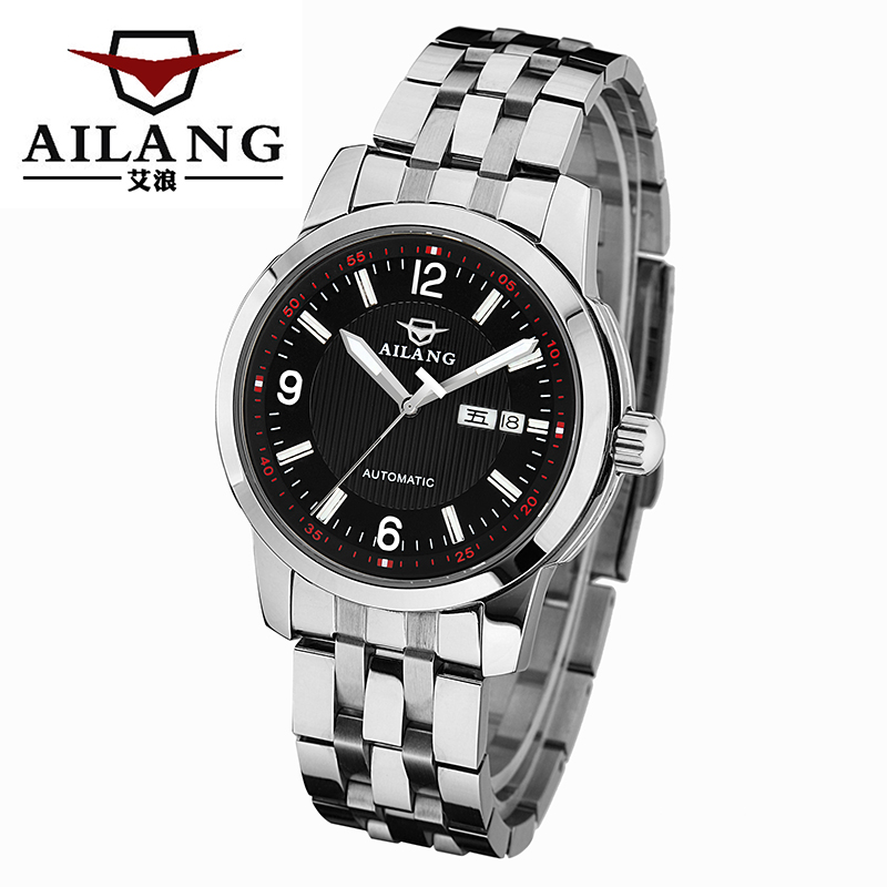 ФОТО AILANG Luxury Brand Fashion Casual Business Mens Watches Dive stainless steel Automatic mechanical Men Watch Relogio Masculino
