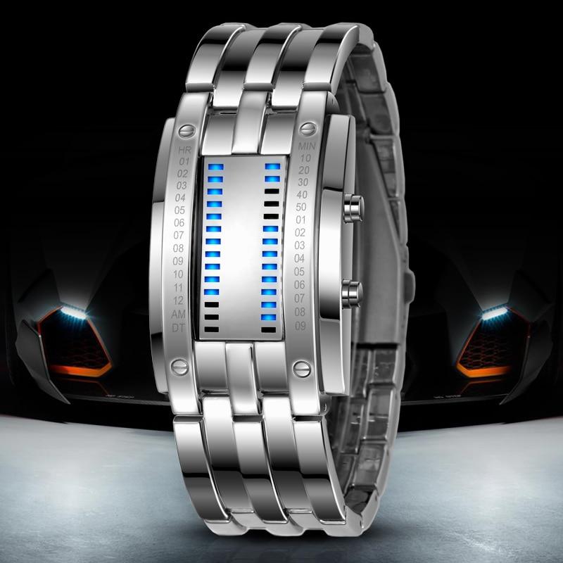 Skmei, популярные мужские модные креативные часы, цифровой светодиодный дисплей, водонепроницаемые ударопрочные наручные часы Lover'S, мужские ч... - 4