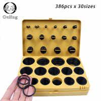 386pcs Rubber Ring NBR O Rings Rubber Kit 30Sizes Nitrile Oring Seal O-Ring Set Sealing Oil Ring Gasket Assortment Set Kit Box