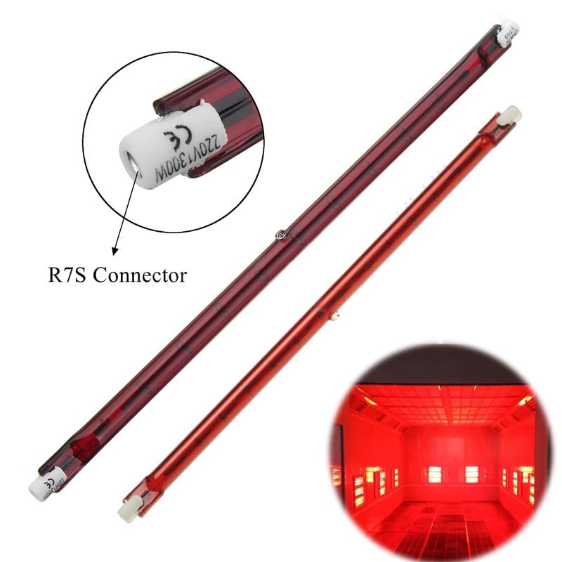 IKVVT 254mm AC 1300W Halogen Quartz Ruby R7S Infra-Red Heater Bar Tube Pipe Heat Lamp honeyfly j254 infrared halogen lamp 1000w 1300w 220v 254mm r7s ir heater lamp ruby single spiral drying ir halogen quartz lamp