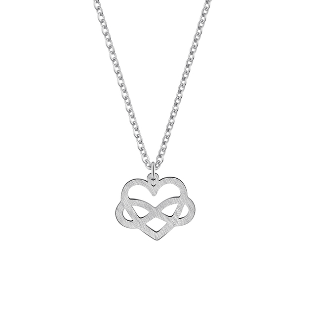 infinity heart necklace. gorgeous tale stainless steel bijoux femme love jewelry infinity heart necklace charm women girl gift gold 1