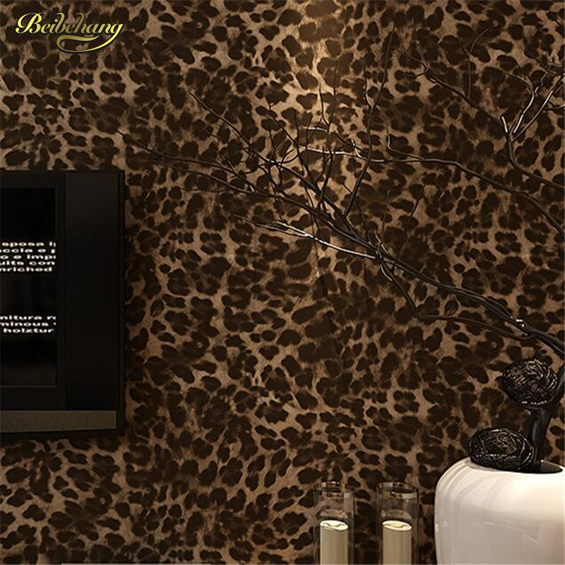 beibehang papel de parede Modern personality trend wallpaper living room bedroom clothing store decoration Leopard wall paper егэ 2013 биология подготовка к экзамену
