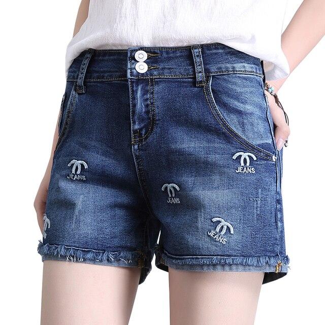 725f08b92ffba1 Frauen süße stickerei quaste denim shorts plus größe damen klassische kurze  jeans sommer fringe lässige shorts