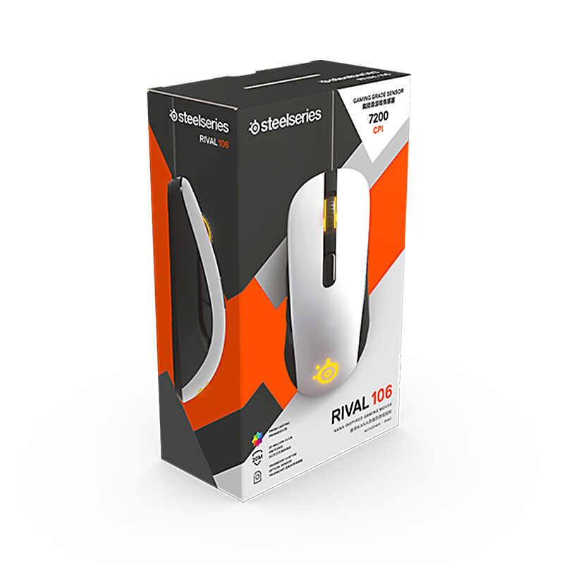 ブランド新 Steelseries ライバル 100 ゲーミングマウスマウス USB 有線光学式 4000DPI マウスプリズム RGB 照明笑 CS