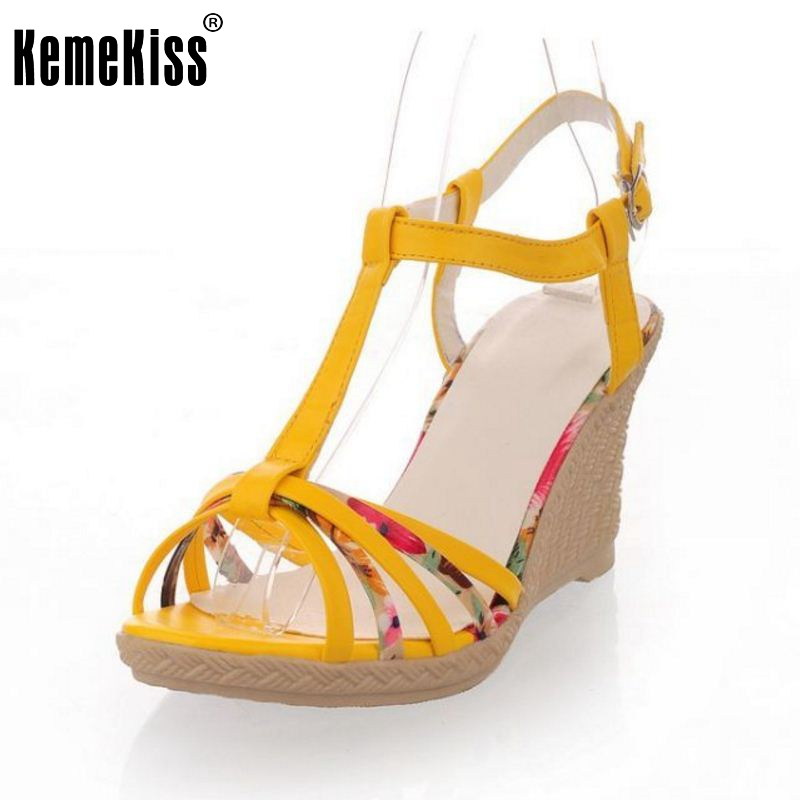 Summer Women Casual Wedges Sandals Bohemia Female Shoes Ankle Strap Platform Sandalias Heels Heeled Shoes Size 34-40 PA00501