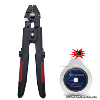 High Carbon Steel Crimper Sleeves Tool Kit Wire Rope Swager Terminal Crimpers for fishing plier with braided Stainless Wire gift