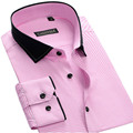 Осень Новый 100% Хлопок Мужчины Случайные Рубашки Высокого Качества Лоскутное отложным Воротником С Длинным Рукавом Мода Плед Мужская Рубашка рубашка
