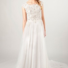 cecelle 2019 A-line Luxury Wedding Dresses With Cap Sleeves