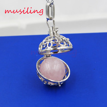 2016 New Wholesale Pendant Silver Plated Natural Stone Lucky Lantern Reiki Pendulum Charms Amulet Fashion Jewelry 20X Mix Order